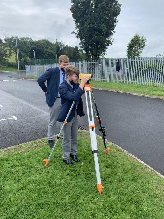 BTEC Construction Class surveying