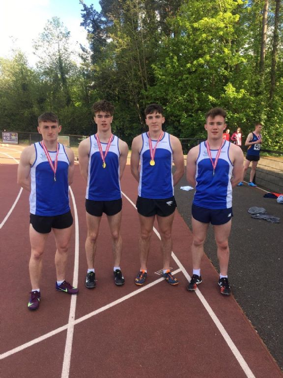4x400m team win impressively at Down Districts