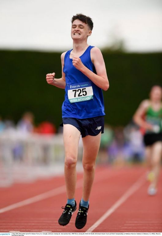 Magnificent Miceal McCaul wins the All Ireland 3000M title