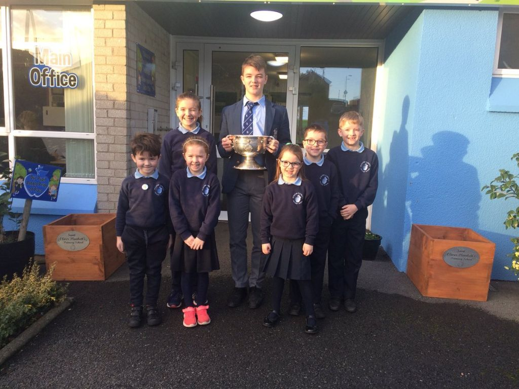 Peter McGrane visits his former Primary School pre Open Day 2019