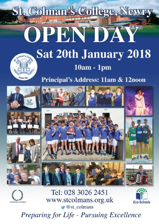 Open Day 2018 promises to be an exciting day